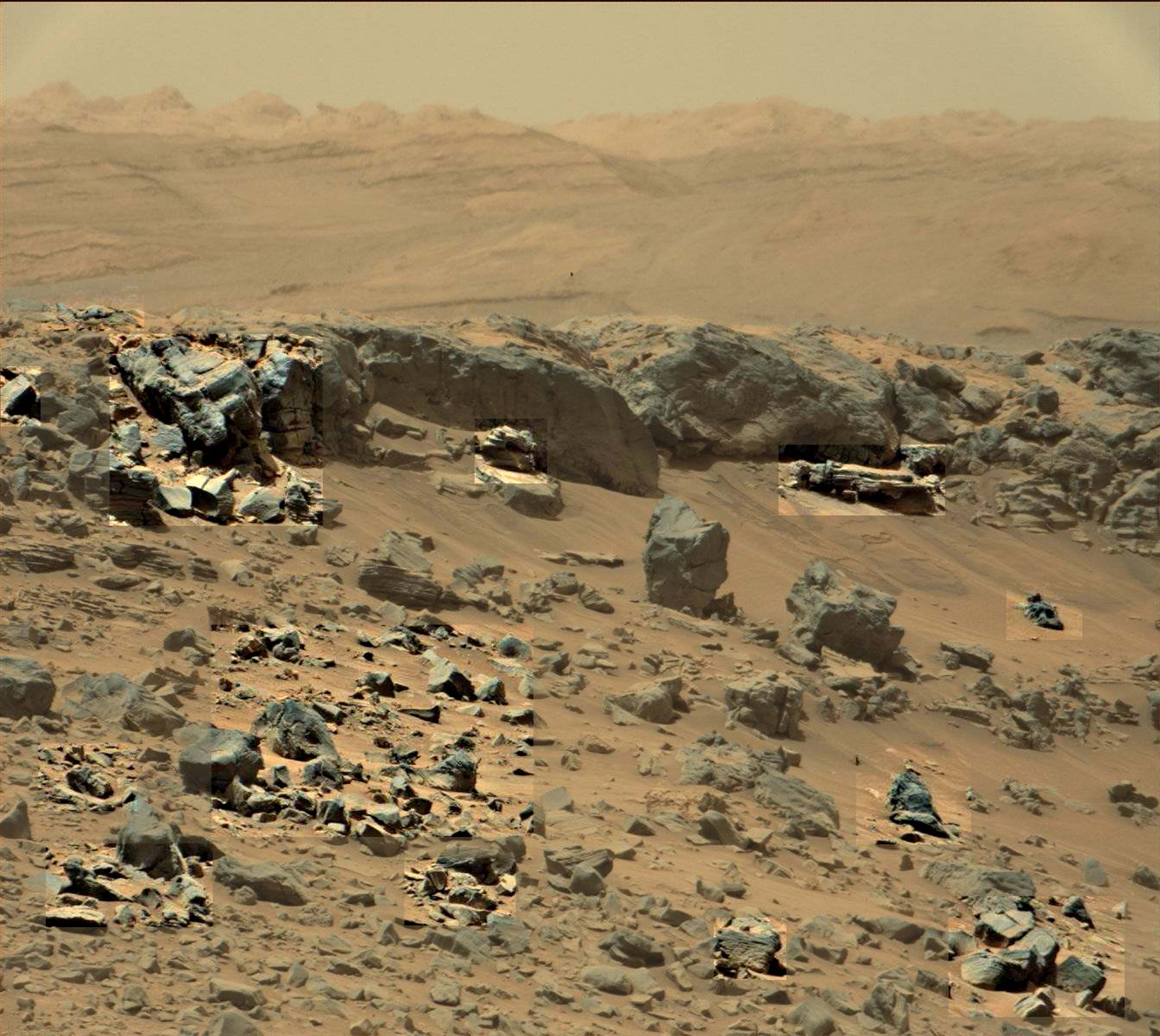 Sol 710 Mars Curiosity Rover tomb with artifacts - harry