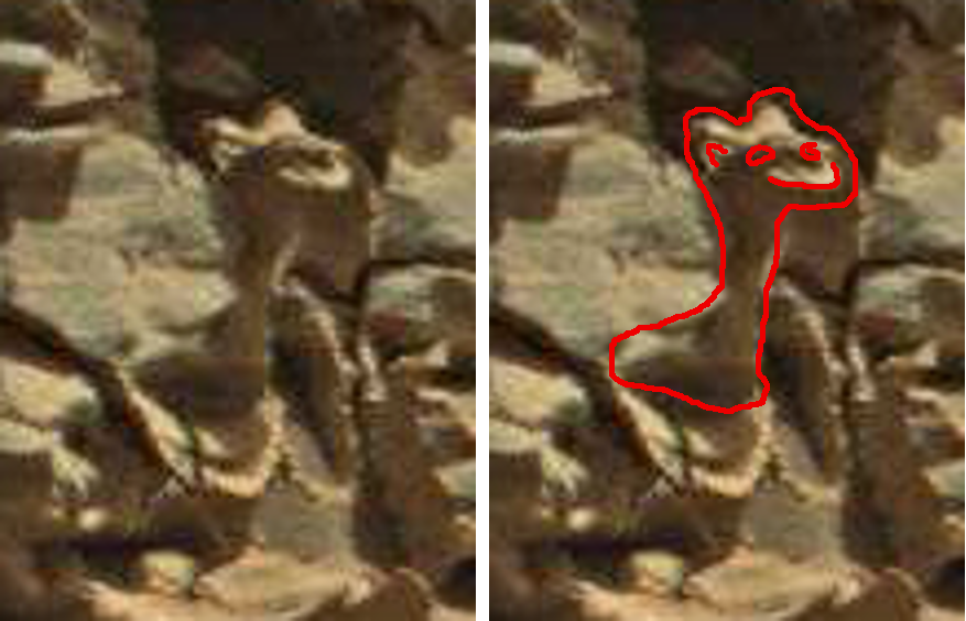 mars anomaly creature statue off wall sbs sol 712 was life on mars