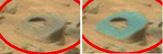 mars anomaly engineered stone with slanted top & matching insert sol 707 was life on mars large