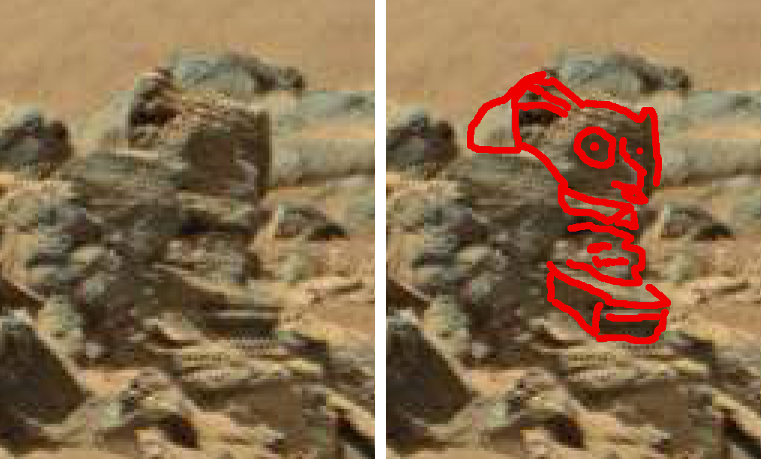 mars anomaly large skull head sbs sol 710 was life on mars