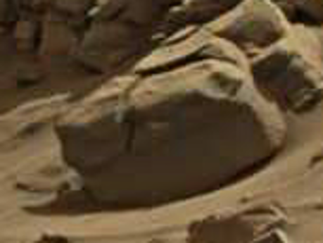 mars anomaly rock with strange lines sol 713 was life on mars