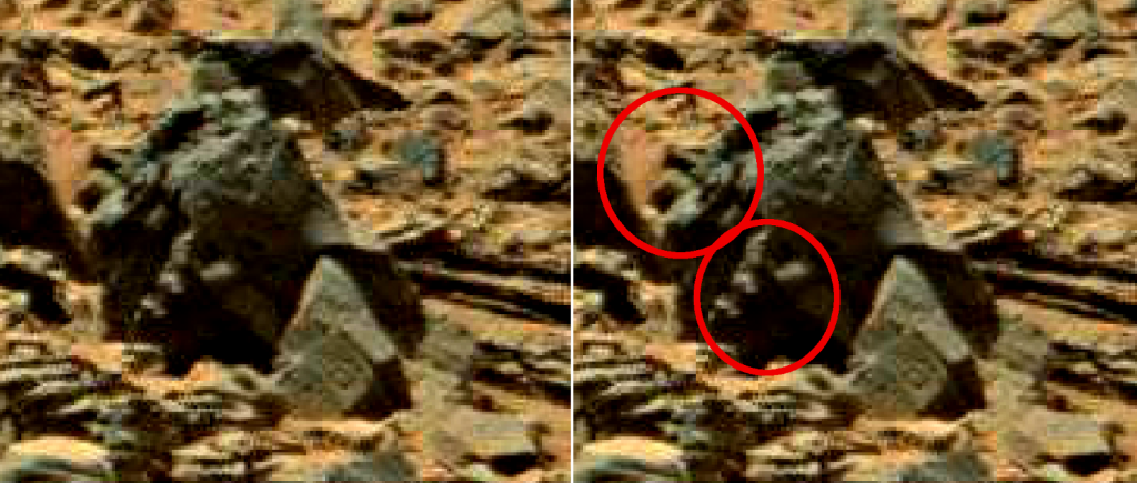 mars anomaly statue with hand 2a - sol 710 was life on mars