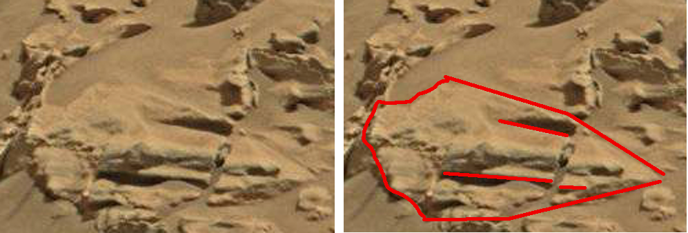 mars anomaly v-shape sbs sol 712 was life on mars