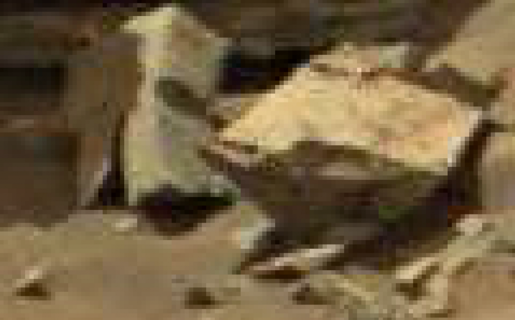 mars anomaly rock image sol 710 was life on mars
