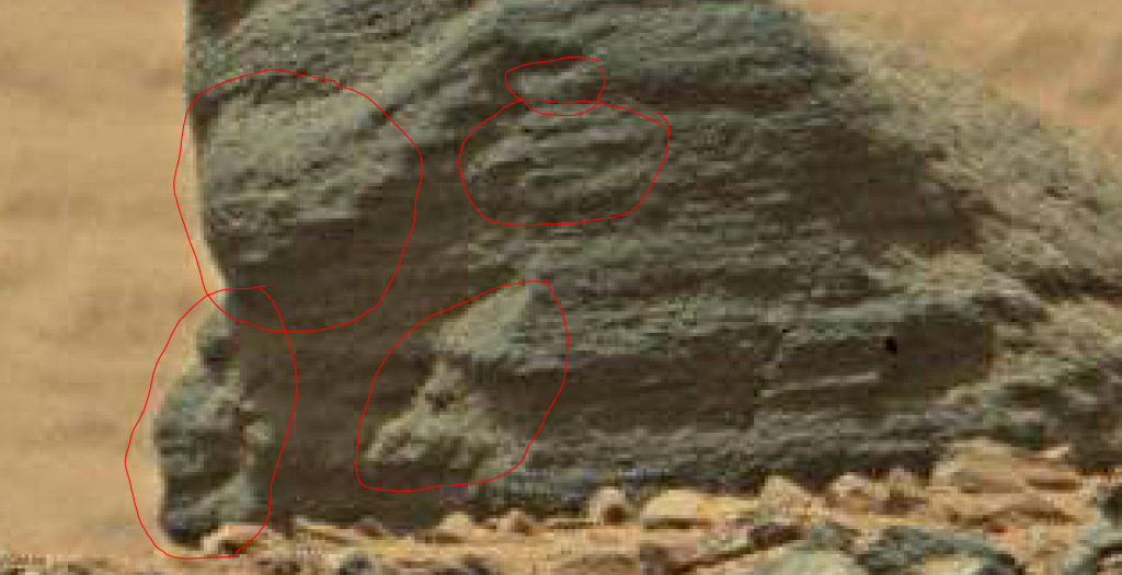 mars sol 710 shark fin rock hidden valley b