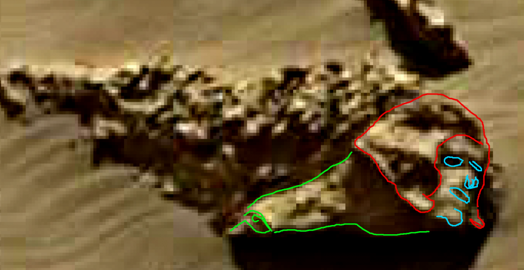 mars sol 1249 anomaly artifacts face highlighted was life on mars