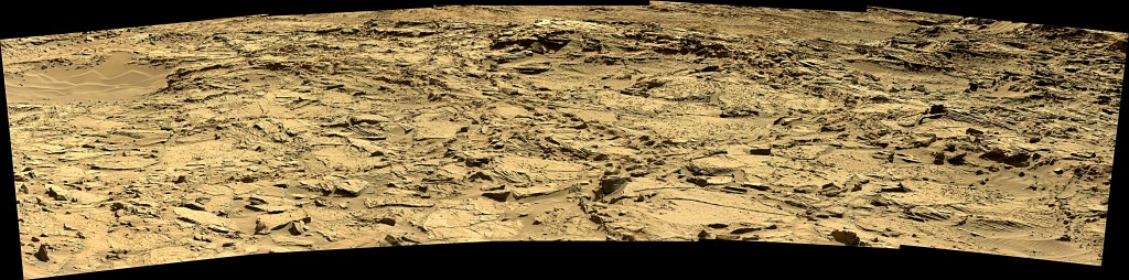 Curiosity Rover Panoramic View 1 of Mars Sol 1294 – Click to enlarge