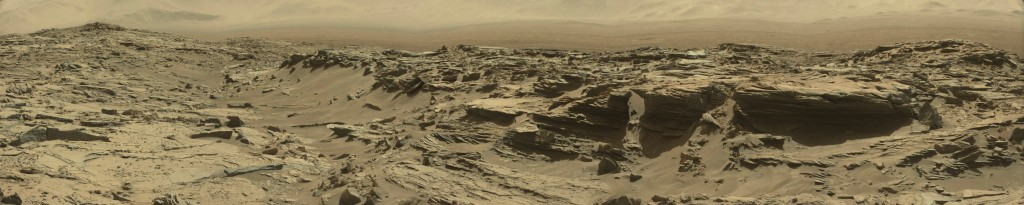 panoramic curiosity rover view - sol 1285 - was life on mars