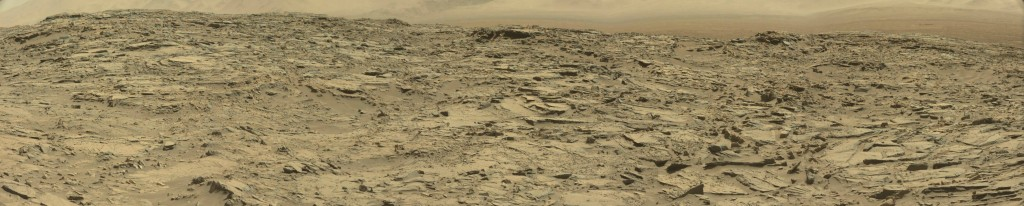 panoramic curiostiy rover view Sol 1282 - was life on mars
