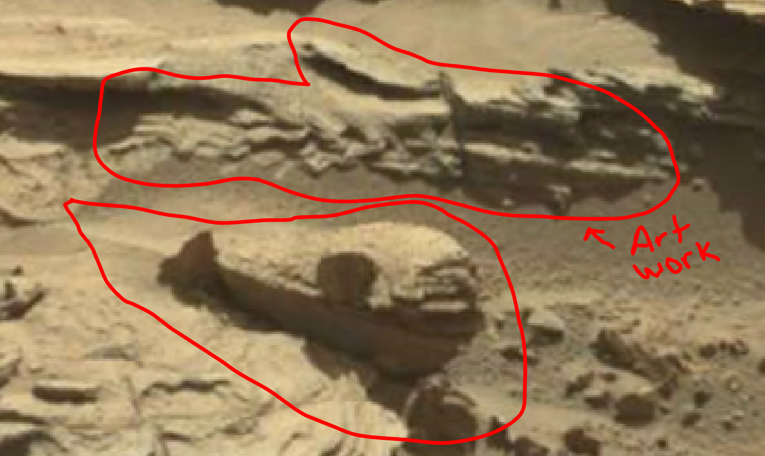 mars sol 1298 anomaly-artifacts 1a was life on mars