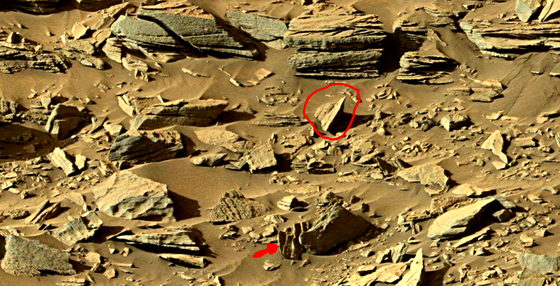 mars sol 1301 anomaly-artifacts 11a was life on mars