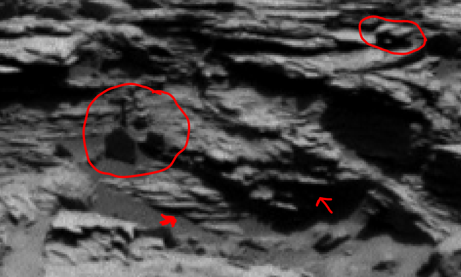 mars sol 1301 anomaly-artifacts 1a was life on mars