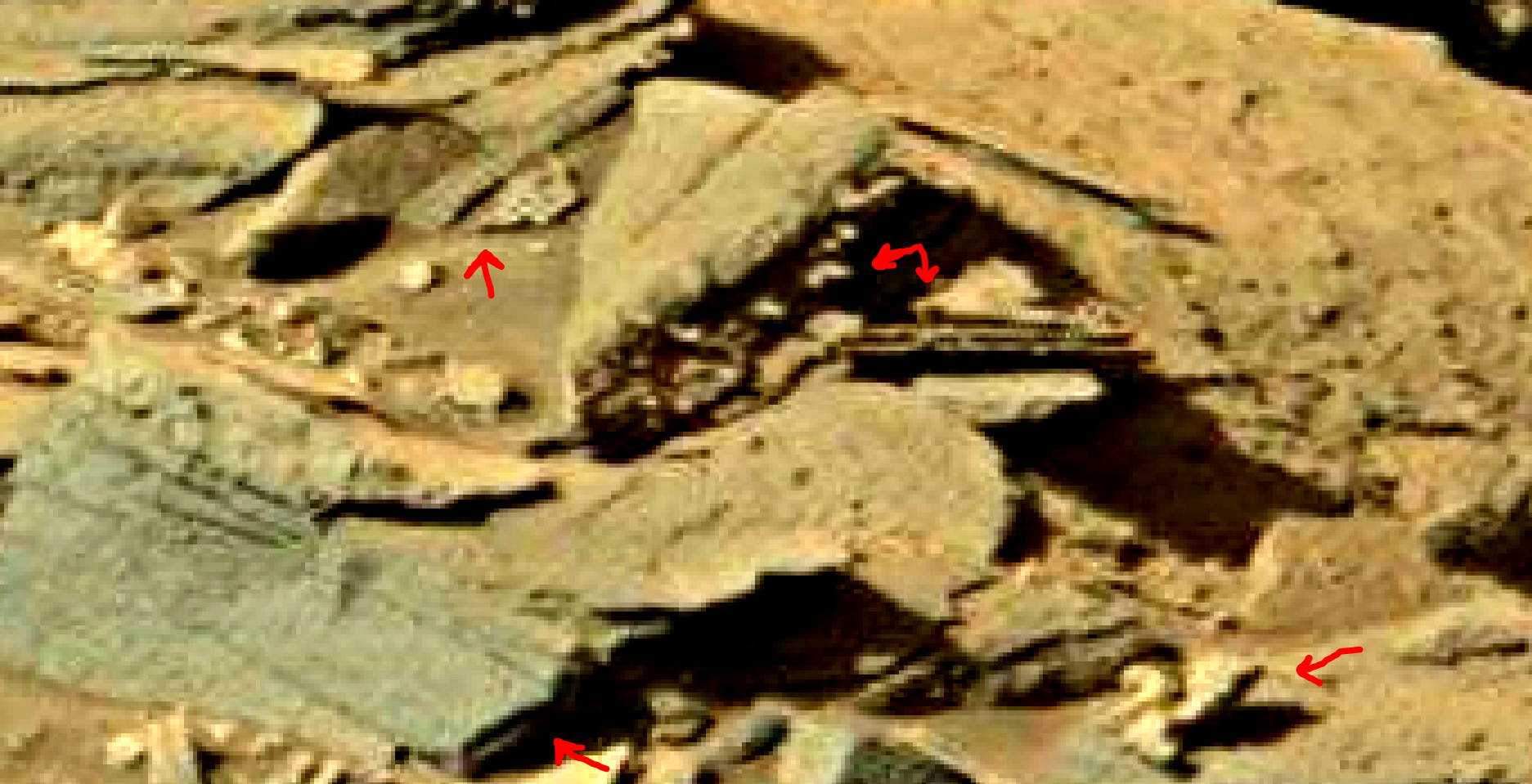 mars sol 1301 anomaly-artifacts 8a was life on mars