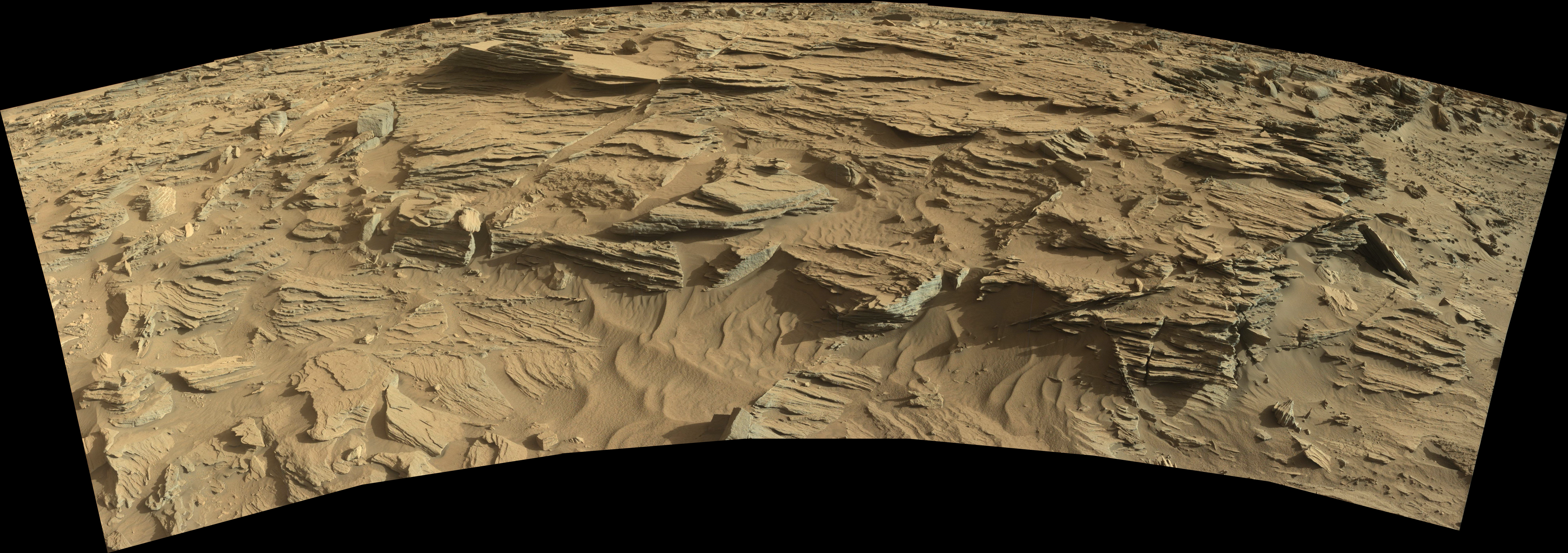 panoramic curiosity rover view 3 - sol 1301 - was life on mars