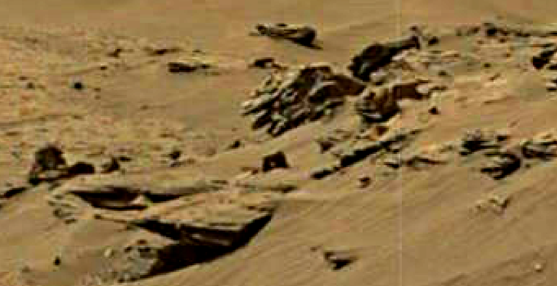 mars sol 1344 anomaly-artifacts 1 was life on mars
