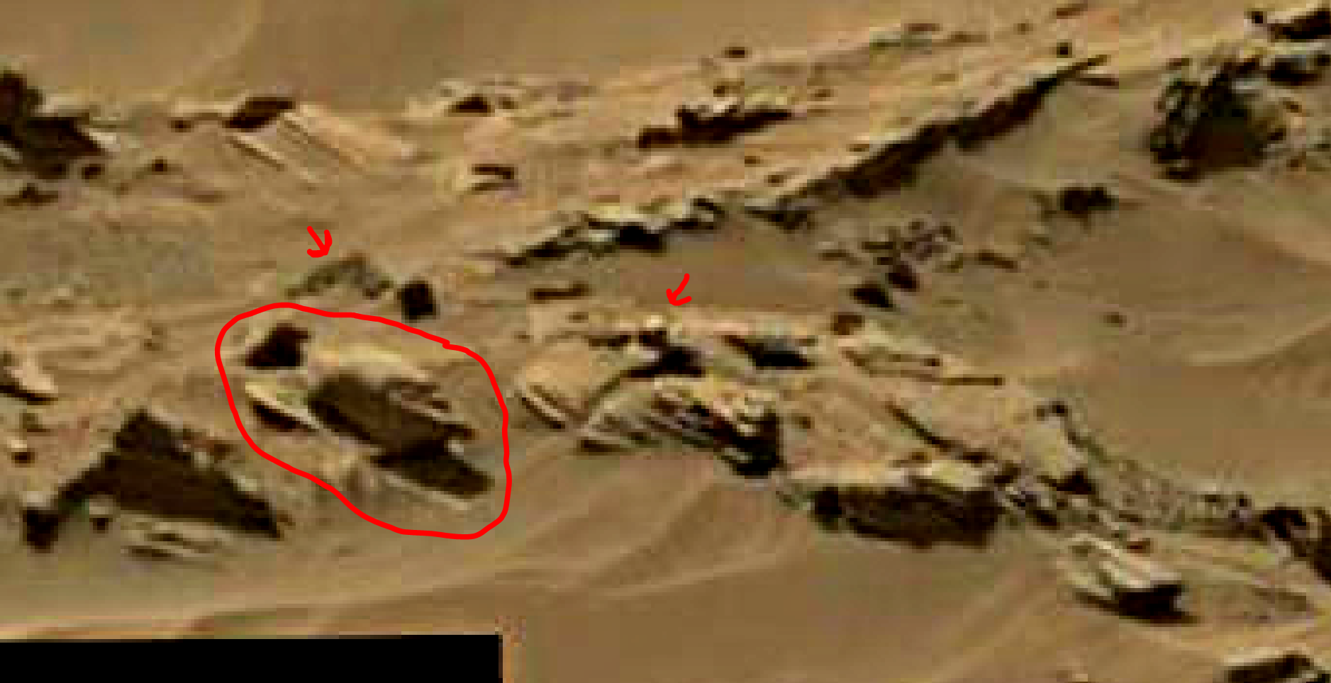 mars sol 1344 anomaly-artifacts 10a was life on mars