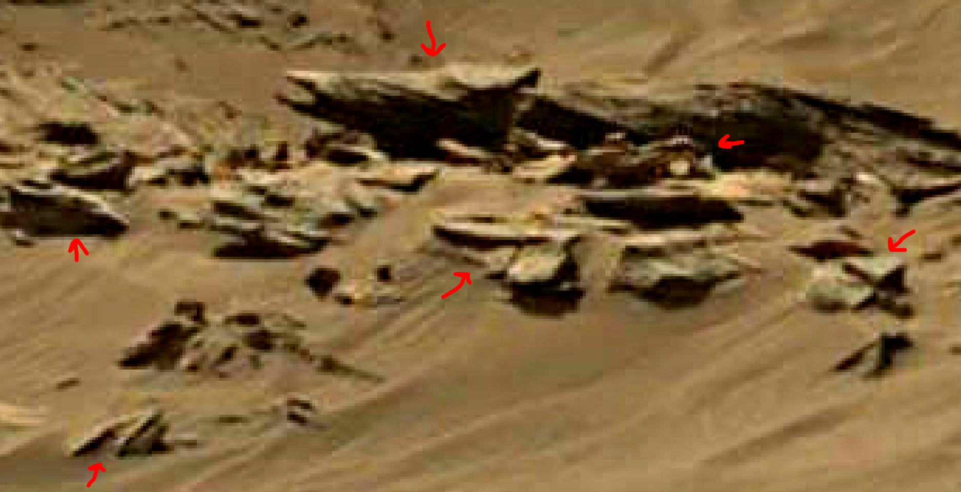 mars sol 1344 anomaly-artifacts 11a was life on mars