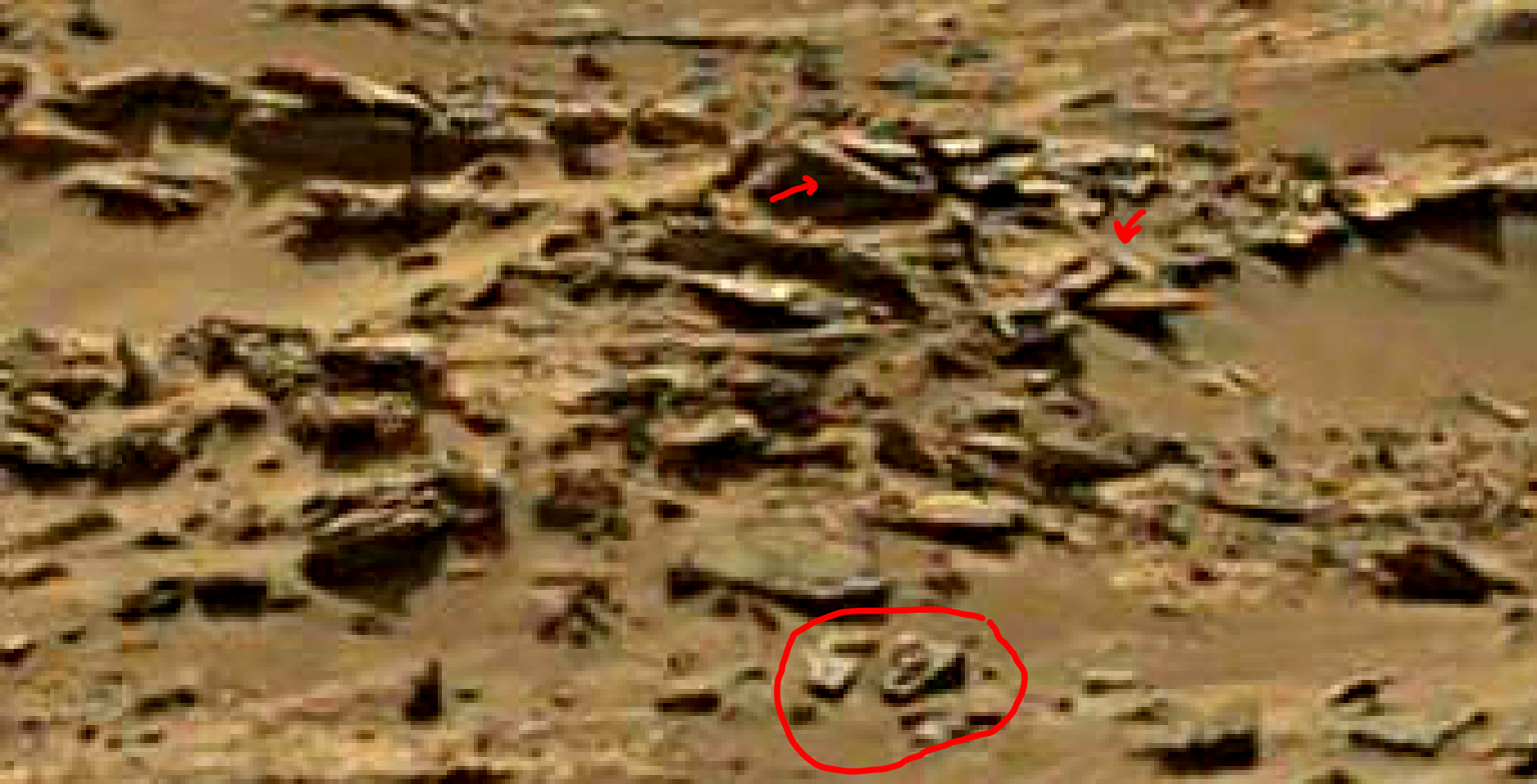 mars sol 1344 anomaly-artifacts 12a was life on mars