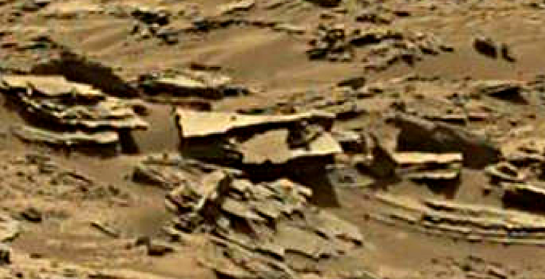 mars sol 1344 anomaly-artifacts 2 was life on mars