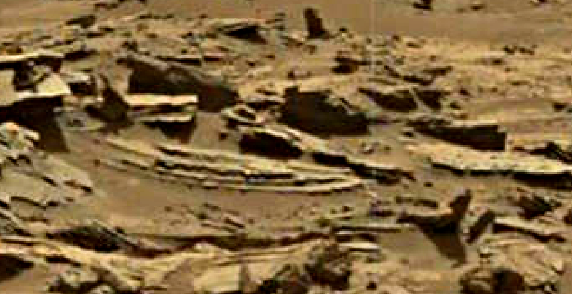 mars sol 1344 anomaly-artifacts 2b was life on mars
