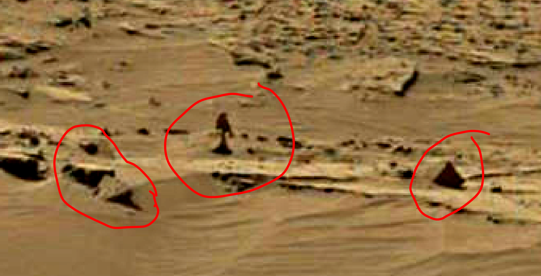 mars sol 1344 anomaly-artifacts 4a was life on mars
