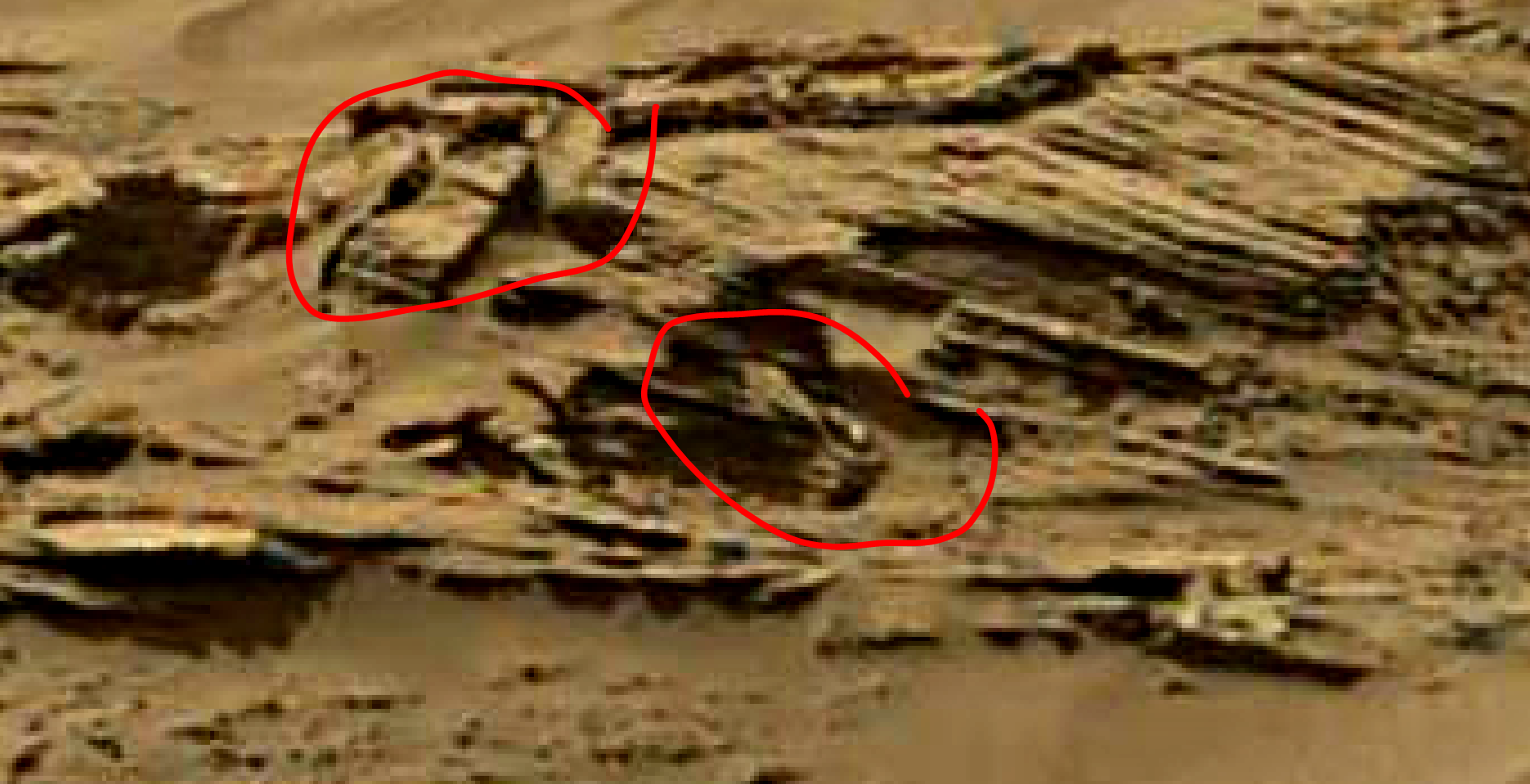 mars sol 1344 anomaly-artifacts 9a was life on mars