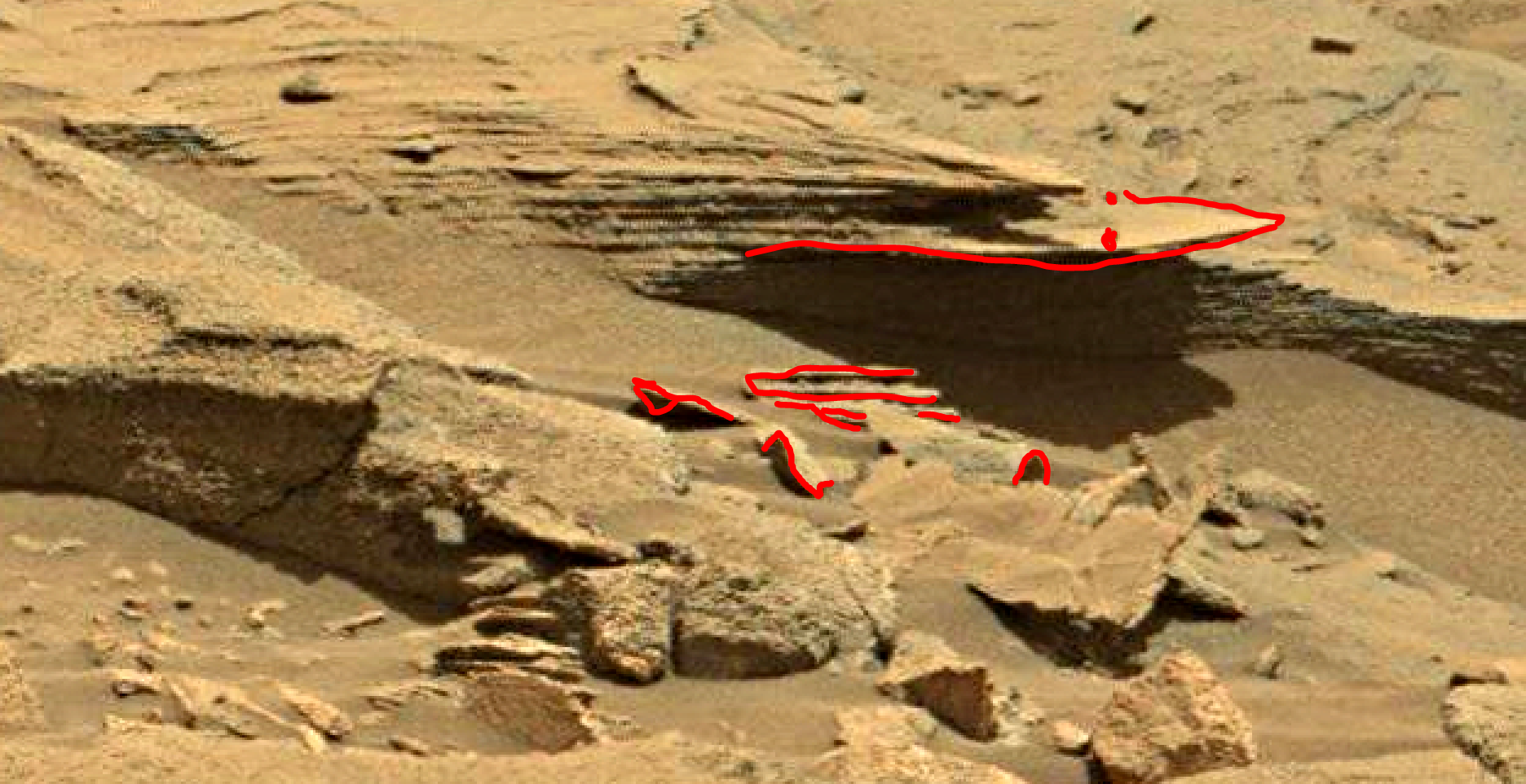 mars sol 1346 anomaly-artifacts 10a was life on mars