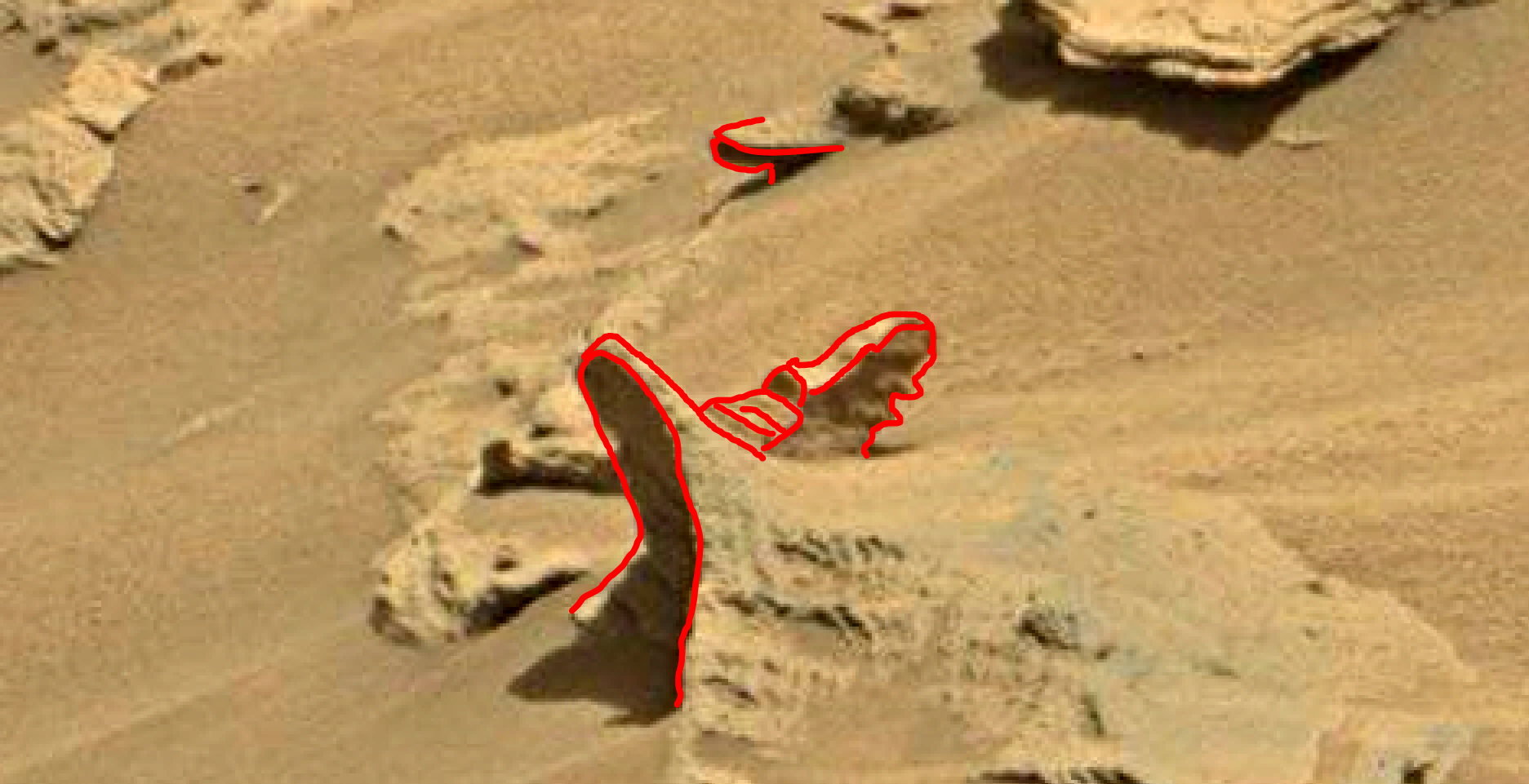 mars sol 1346 anomaly-artifacts 11a was life on mars
