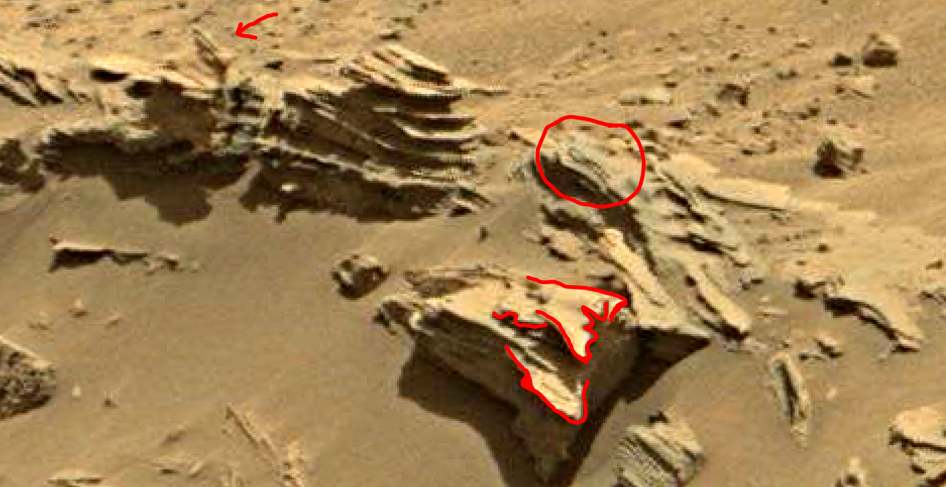 mars sol 1346 anomaly-artifacts 12a was life on mars