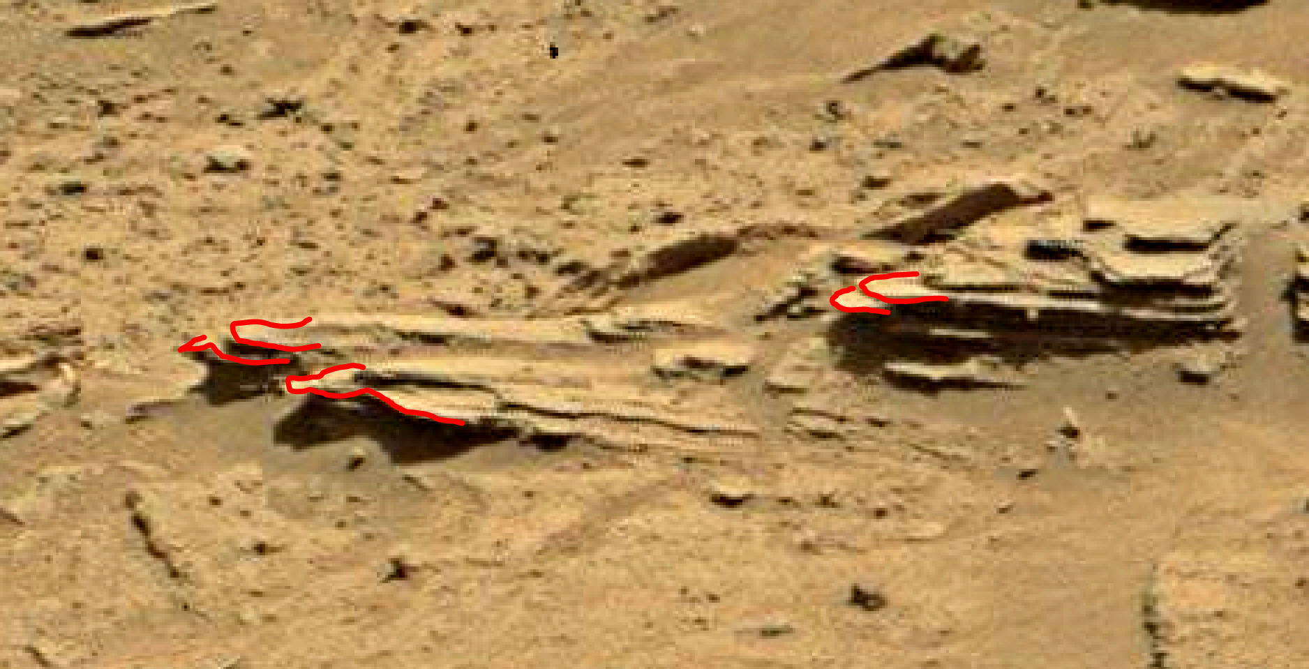 mars sol 1346 anomaly-artifacts 14a was life on mars