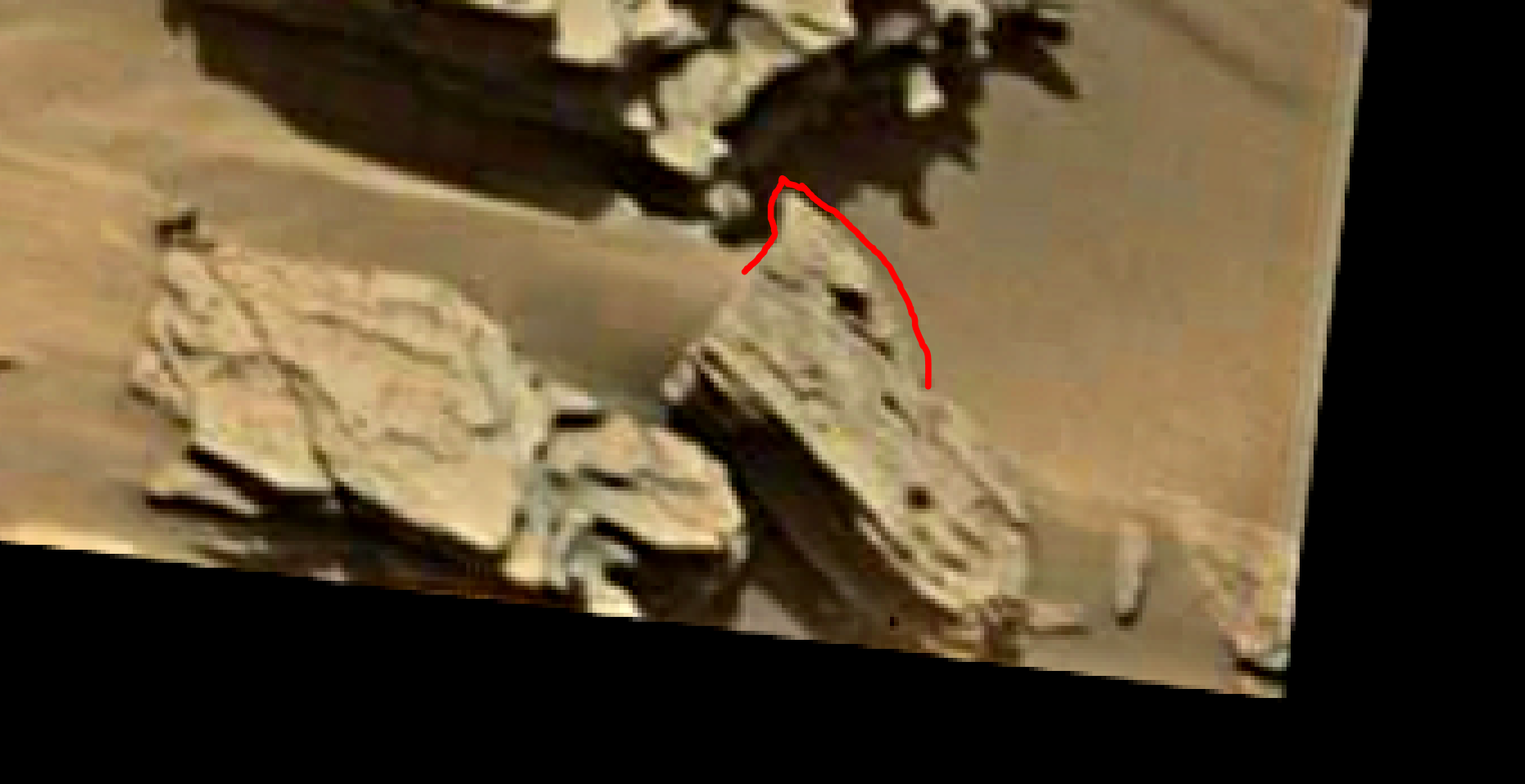 mars sol 1346 anomaly-artifacts 18a was life on mars
