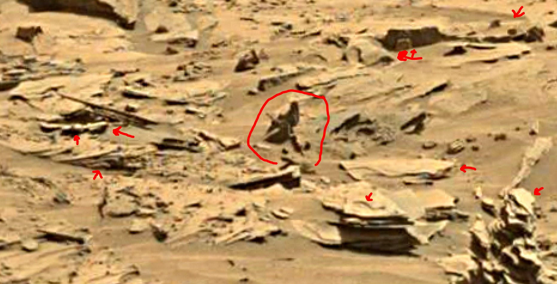 mars sol 1346 anomaly-artifacts 20a was life on mars