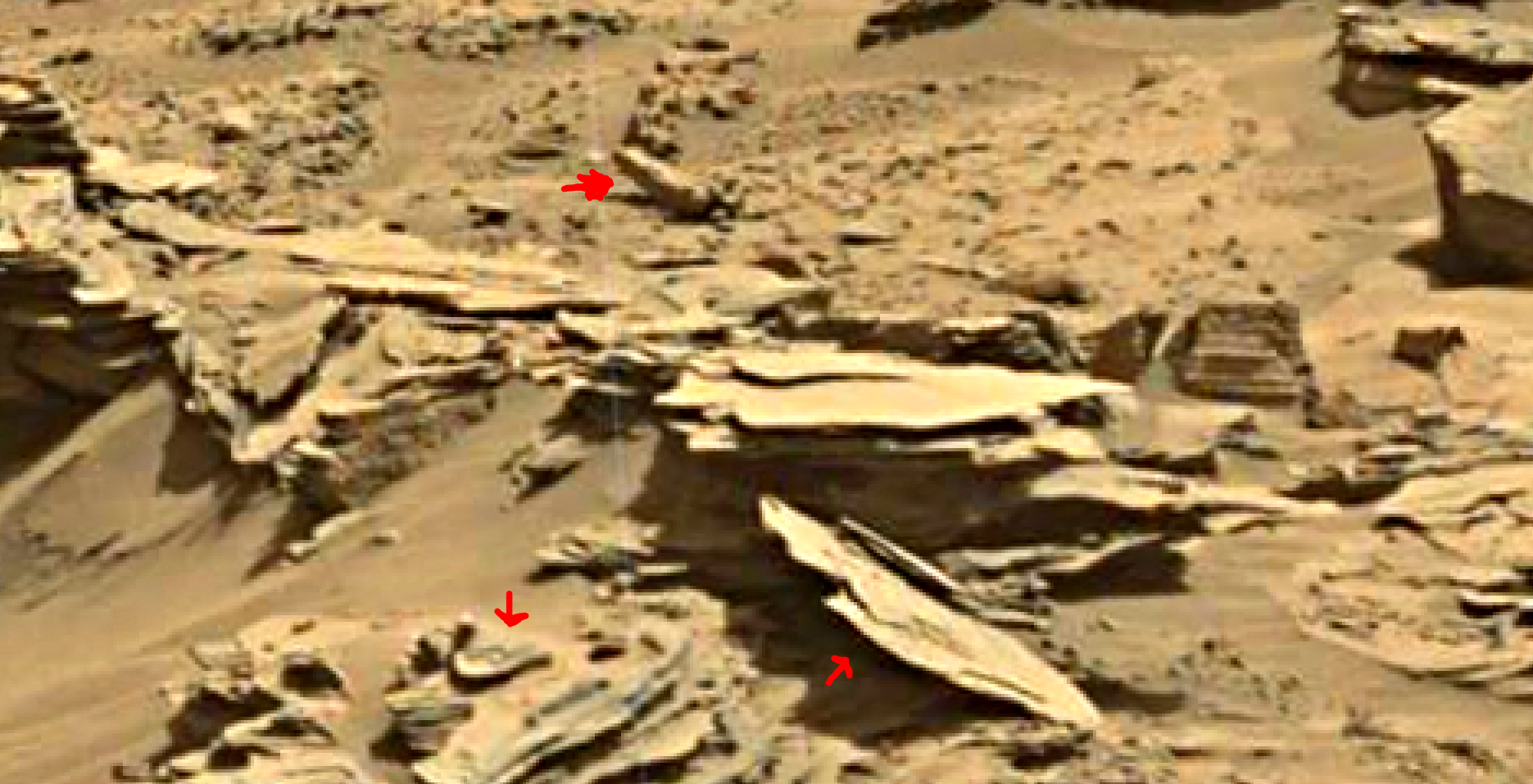 mars sol 1346 anomaly-artifacts 21a was life on mars