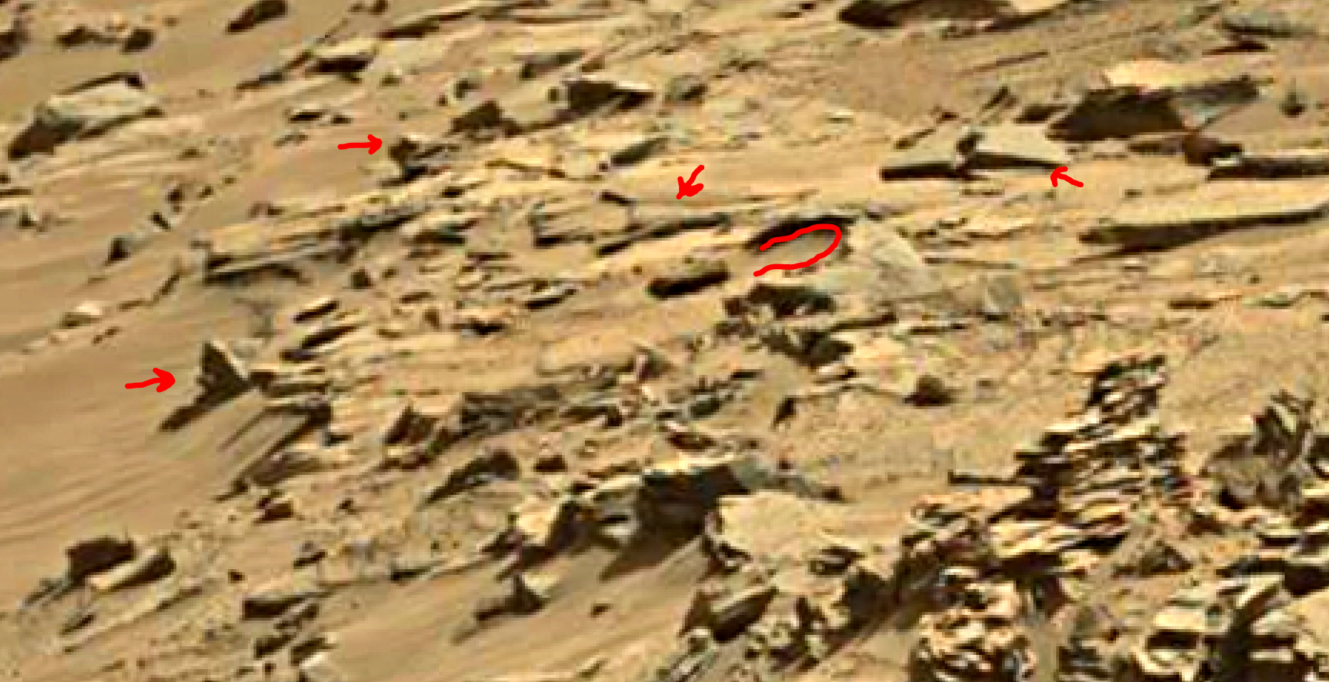 mars sol 1346 anomaly-artifacts 22 was life on mars