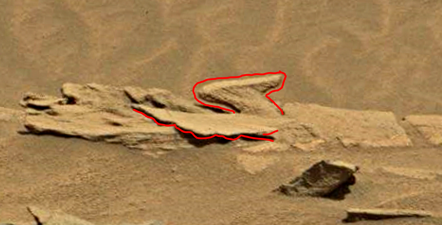 mars sol 1346 anomaly-artifacts 4a was life on mars