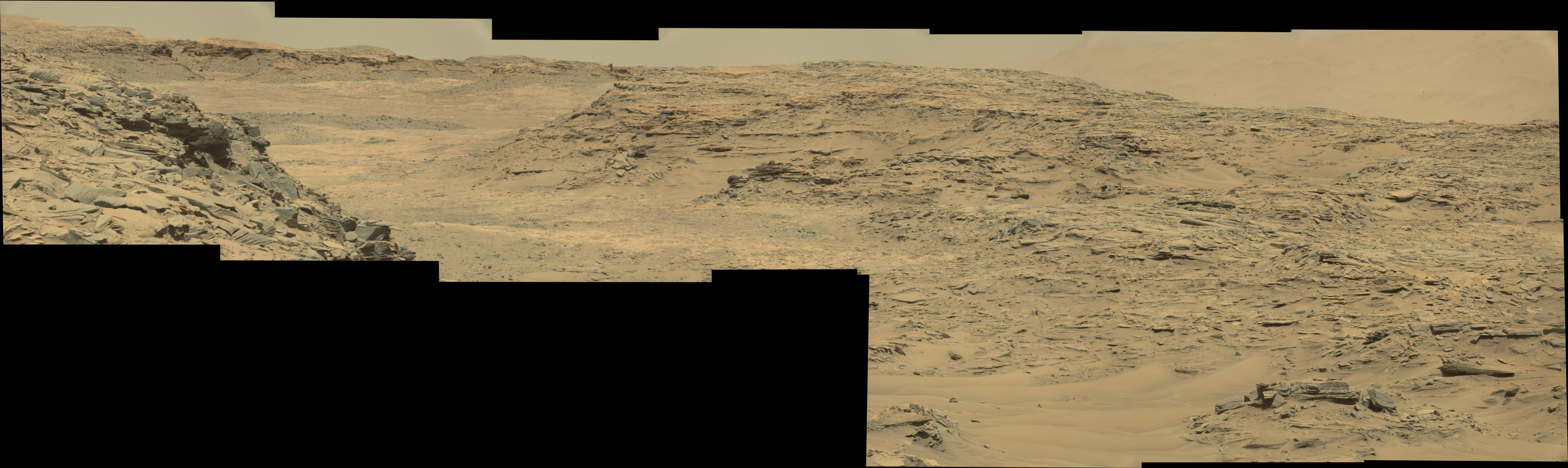 panoramic curiosity rover view 1 - sol 1303 - was life on mars
