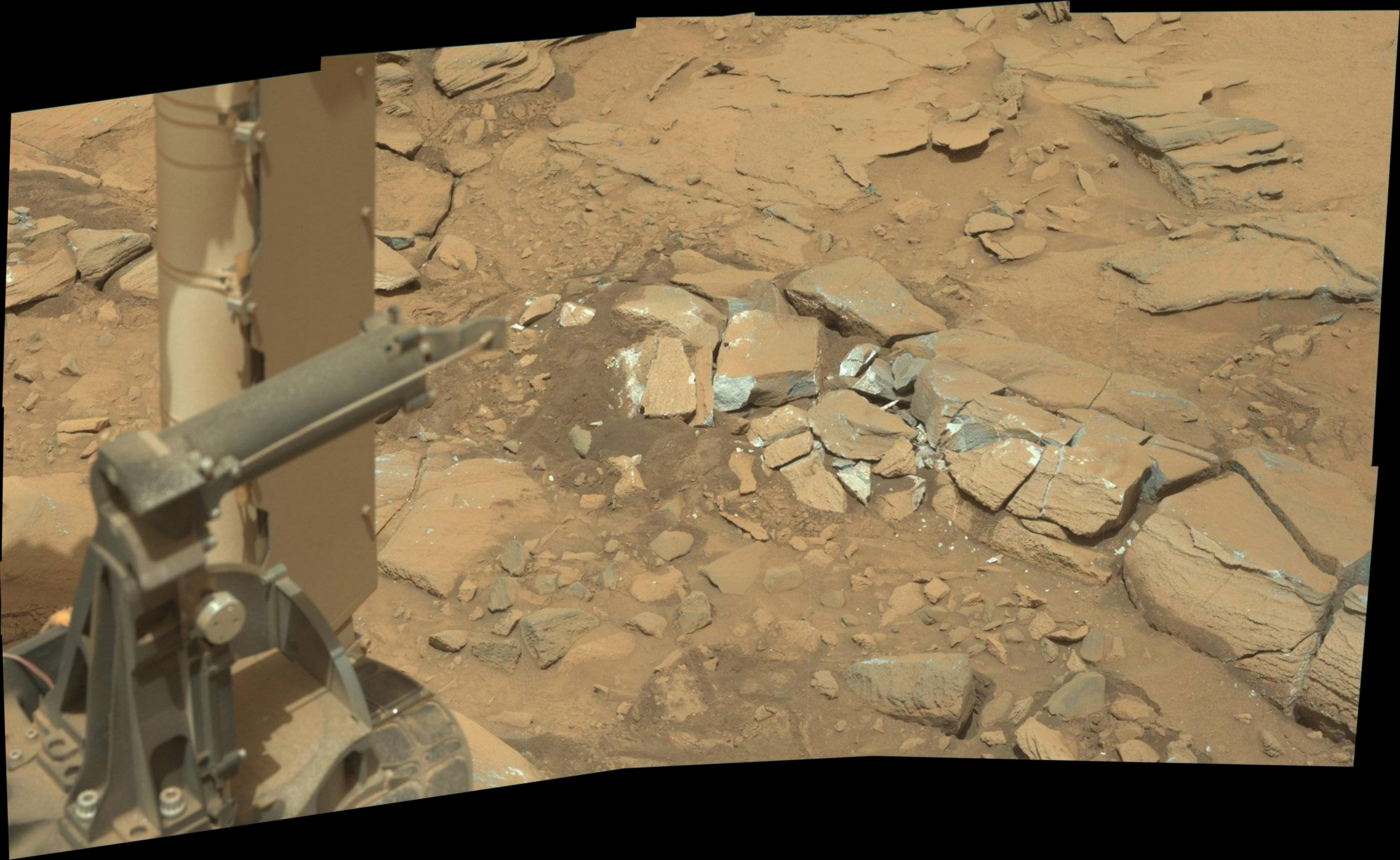 panoramic curiosity rover view 1 - sol 1342 - was life on mars