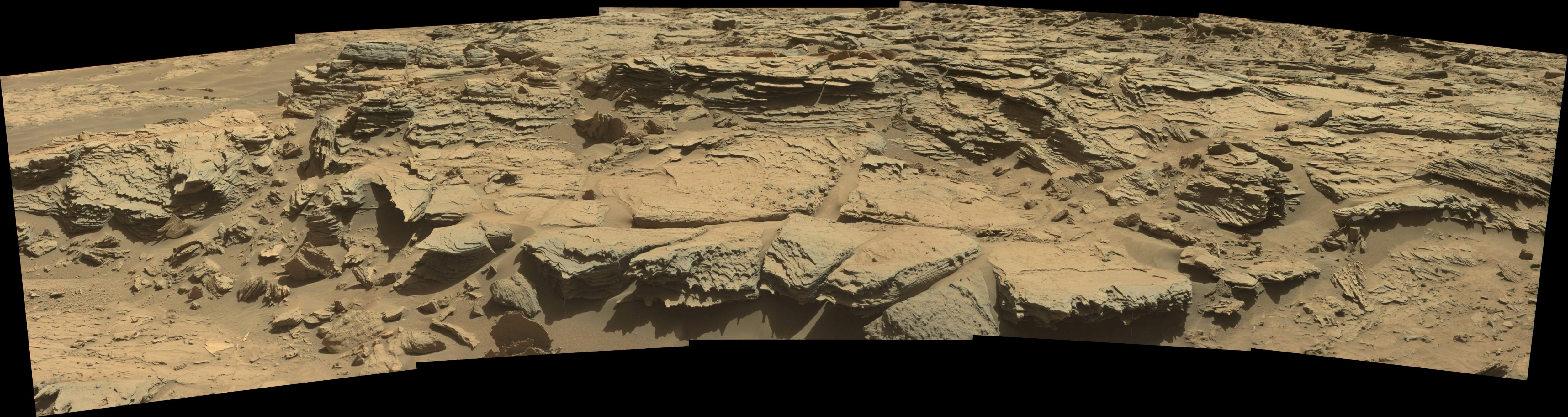 panoramic curiosity rover view 2 - sol 1303 - was life on mars