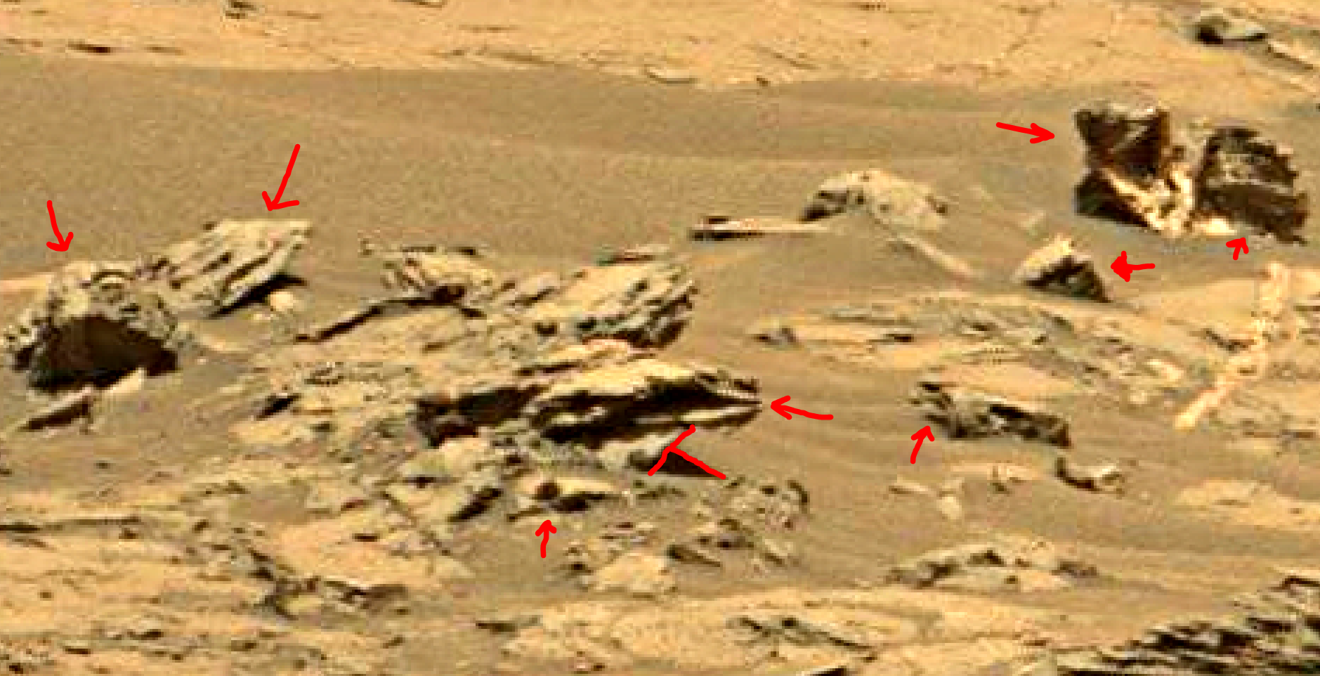 mars sol 1353 anomaly-artifacts 10a was life on mars