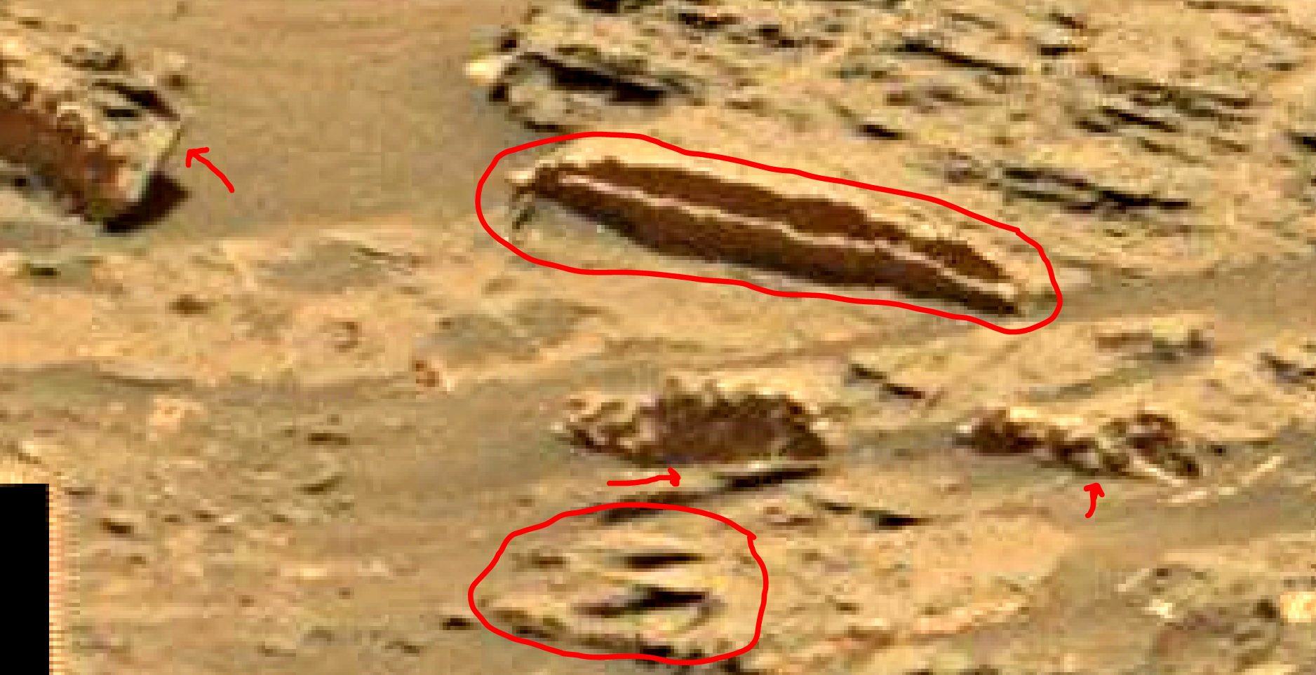 mars sol 1353 anomaly-artifacts 13a was life on mars