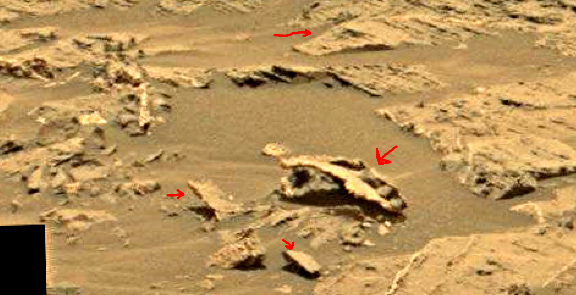 mars sol 1353 anomaly-artifacts 14a was life on mars