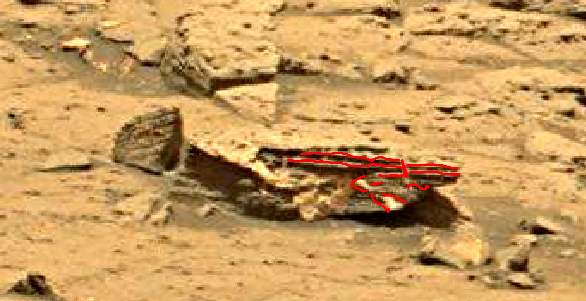 mars sol 1353 anomaly-artifacts 15a was life on mars