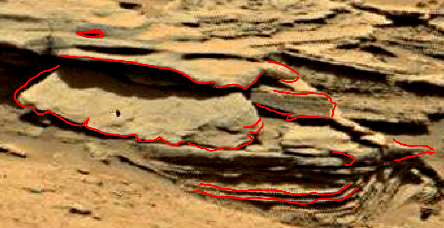mars sol 1353 anomaly-artifacts 18a was life on mars