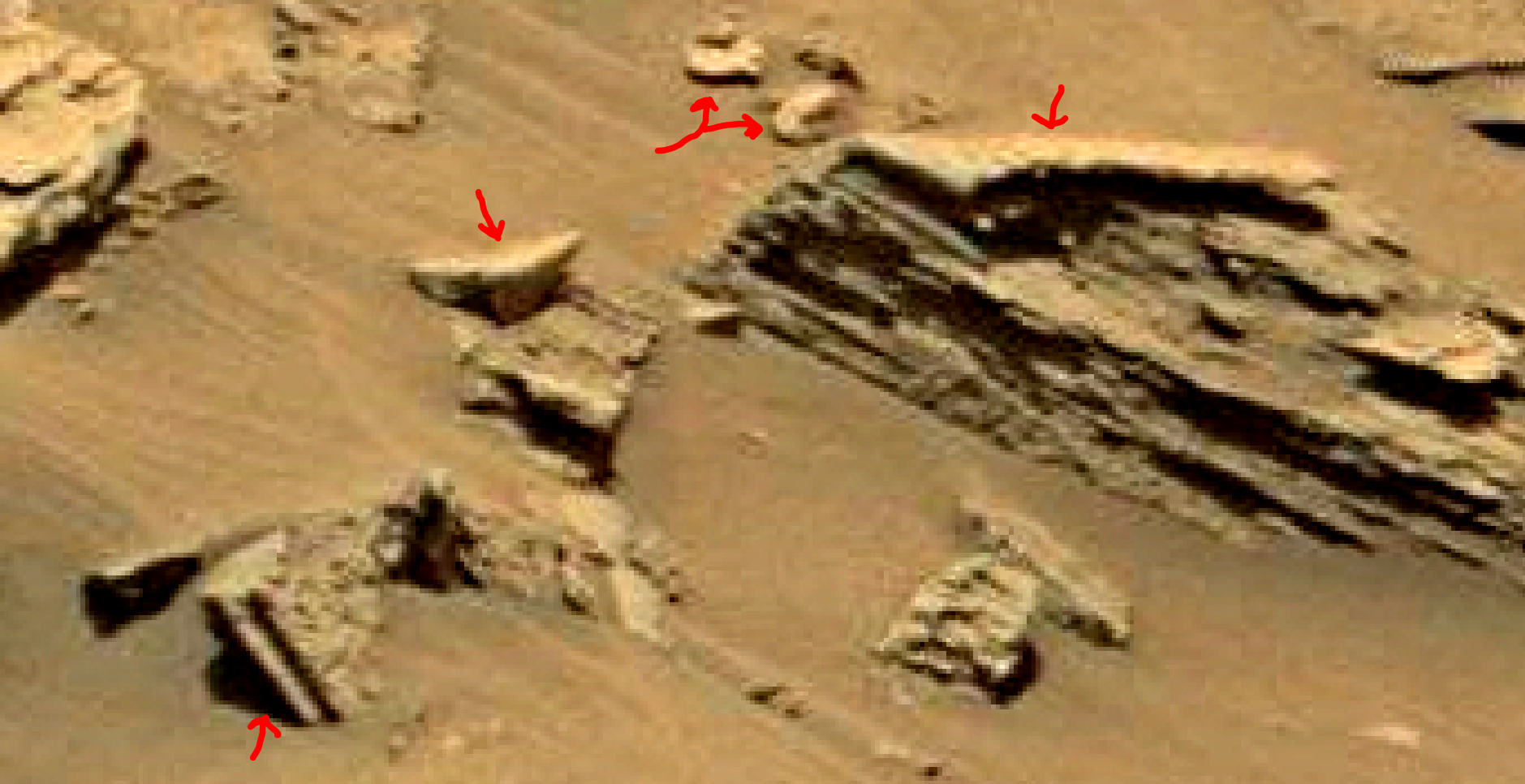 mars sol 1353 anomaly-artifacts 19a was life on mars