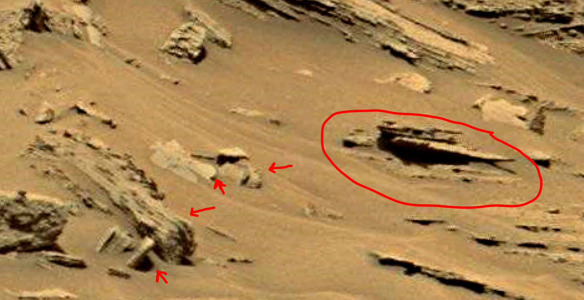 mars sol 1353 anomaly-artifacts 20 was life on mars