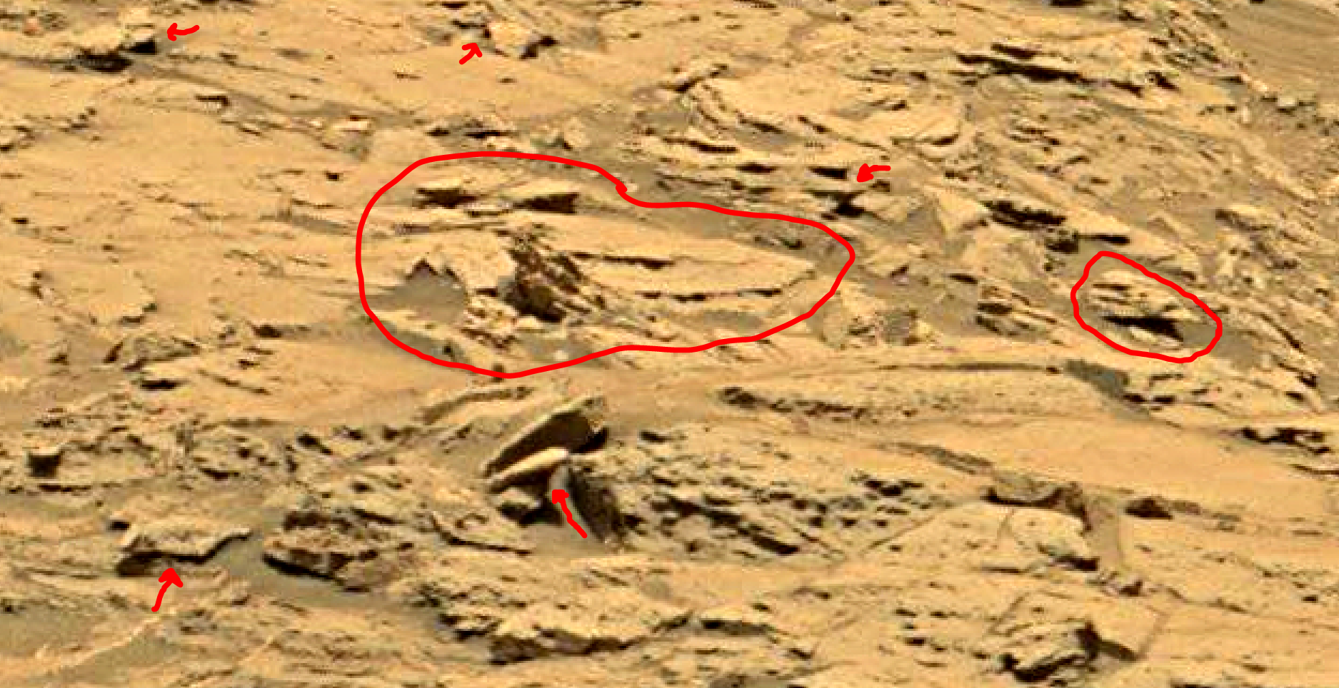 mars sol 1353 anomaly-artifacts 22a was life on mars