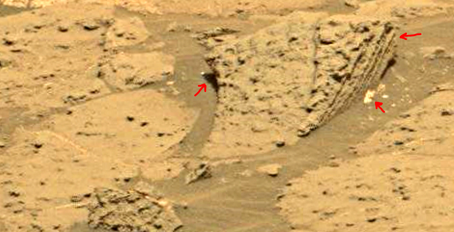 mars sol 1353 anomaly-artifacts 24a was life on mars