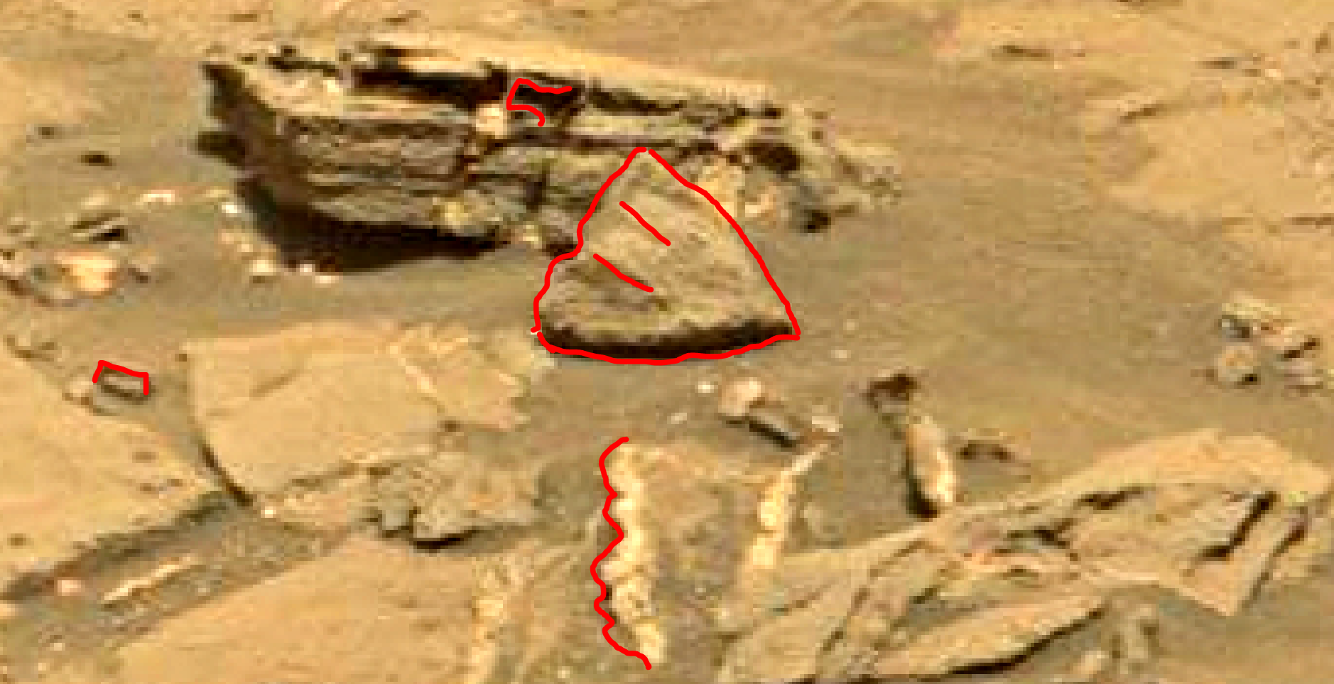 mars sol 1353 anomaly-artifacts 25a was life on mars