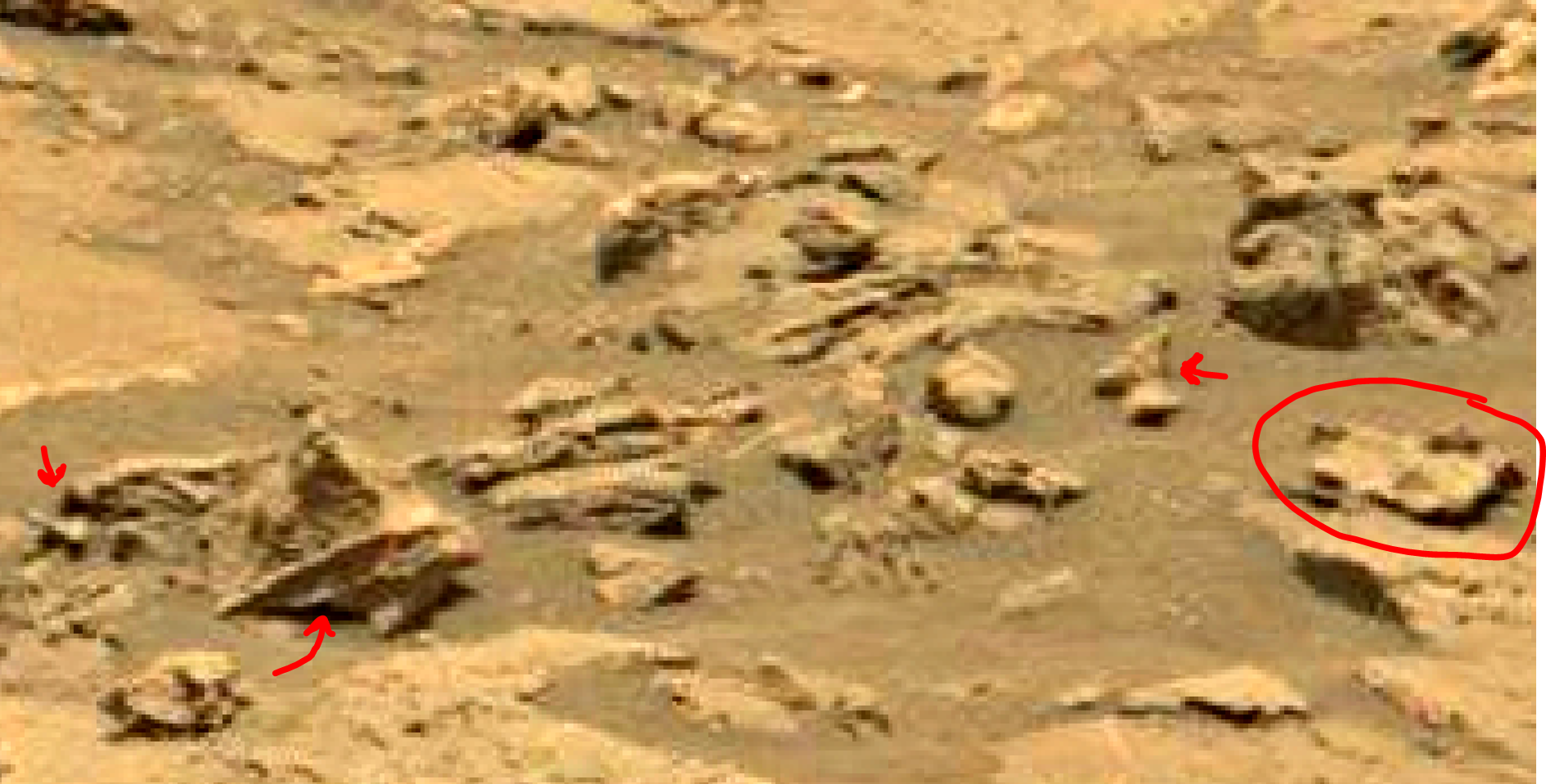 mars sol 1353 anomaly-artifacts 26 was life on mars