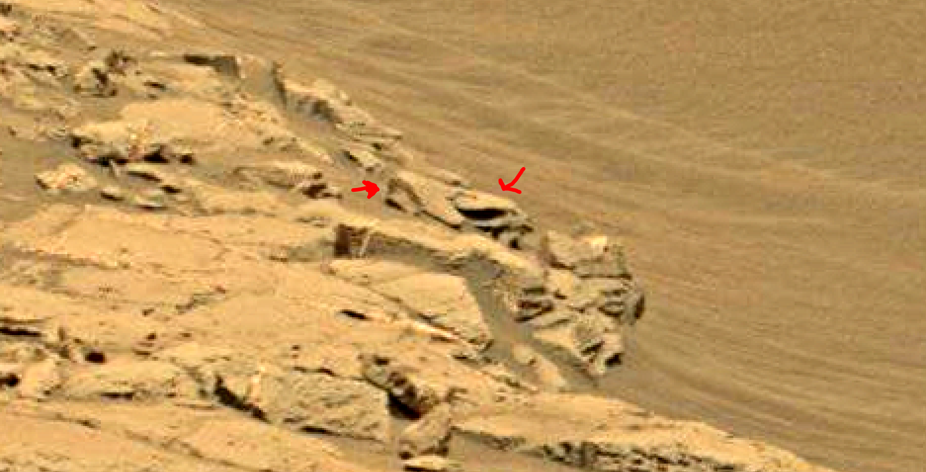 mars sol 1353 anomaly-artifacts 27 was life on mars